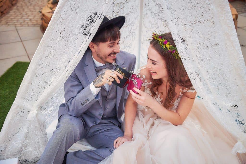 Bunte Hochzeitsdeko
